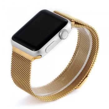 Ремешок стальной COTEETCI W6 Gold 42mm для Apple Watch