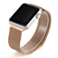 Ремешок стальной COTEETCI W6 Rose Gold 42mm для Apple Watch