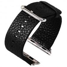 Ремешок кожаный COTEETCI W1 Black 38mm для Apple Watch