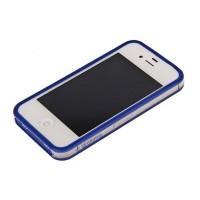 Бампер пластиковый Griffin Reveal Frame Bumper BLUE для iPhone 4/4S