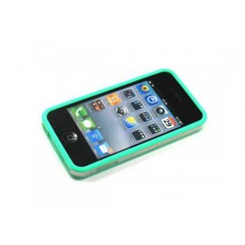Бампер пластиковый Griffin Reveal Frame Bumper GREEN для iPhone 4/4S