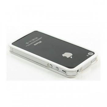 Бампер пластиковый Griffin Reveal Frame Bumper WHITE для iPhone 4/4S