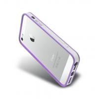 Бампер металлический NavJack Trim Series Bumper PALE LILAC для iPhone 5/5S