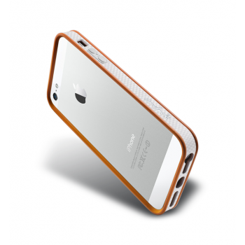 Бампер металлический NavJack Trim Series Bumper Pastel Orange для iPhone 5/5S