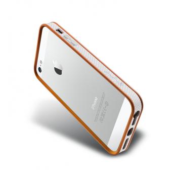 Бампер металлический NavJack Trim Series Bumper Pastel Orange для iPhone 5/5S
