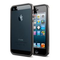 Чехол пластиковый Spigen Case Neo Hybrid EX Slim Metal Series GUN METAL для iPhone 5/5S