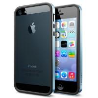 Чехол пластиковый Spigen Case Neo Hybrid EX Slim Metal Series METAL BLUE для iPhone 5/5S