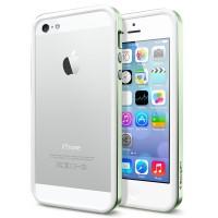 Бампер металлический SGP Case Neo Hybrid EX Slim Metal Series METAL GREEN для iPhone 5/5S