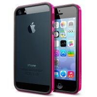 Бампер пластиковый SGP Case Neo Hybrid EX Slim Vivid Series HOT PINK для iPhone 5/5S