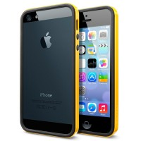 Бампер пластиковый SGP Case Neo Hybrid EX Slim Vivid Series REVENTON YELLOW для iPhone 5/5S