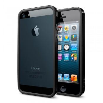 Бампер пластиковый SGP Case Neo Hybrid EX Slim Vivid Series SOUL BLACK для iPhone 5/5S