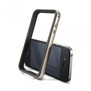Бампер металлический SGP Case Neo Hybrid 2S Vivid Series CHAMPAGNE GOLD для iPhone 4/4S