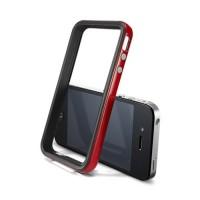 Бампер пластиковый SGP Case Neo Hybrid 2S Vivid Series DANTE RED для iPhone 4/4S