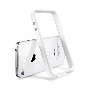 Бампер металлический SGP Case Neo Hybrid 2S Snow Series INFINITY WHITE для iPhone 4/4S