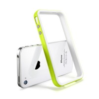 Бампер металлический SGP Case Neo Hybrid 2S Snow Series LIME для iPhone 4/4S