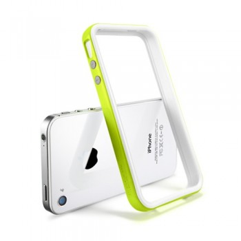 Бампер металлический SGP Case Neo Hybrid 2S Snow Series LIME для iPhone 4/4S