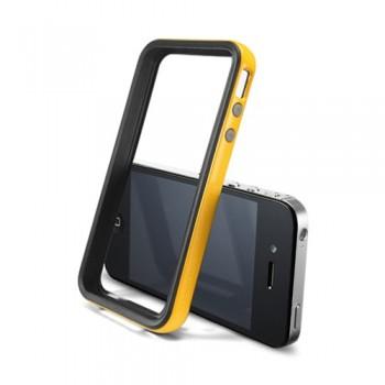 Бампер пластиковый SGP Case Neo Hybrid 2S Vivid Series REVENTON YELLOW для iPhone 4/4S