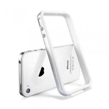 Бампер металлический SGP Case Neo Hybrid 2S Snow Series SATIN SILVER для iPhone 4/4S