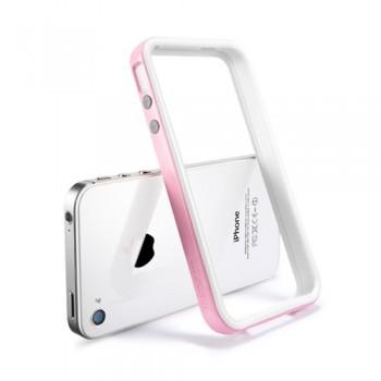 Бампер металлический SGP Case Neo Hybrid 2S Snow Series SHERBET PINK для iPhone 4/4S