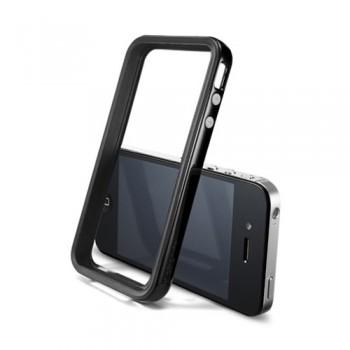 Бампер пластиковый SGP Case Neo Hybrid 2S Vivid Series SOUL BLACK для iPhone 4/4S