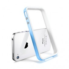 Бампер металлический SGP Case Neo Hybrid 2S Snow Series TENDER BLUE для iPhone 4/4S