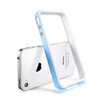Бампер металлический SGP Case Neo Hybrid 2S Snow Series TENDER BLUE для iPhone 4/4S