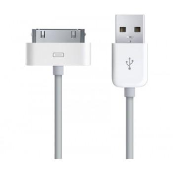 Кабель Dock Connector 30 pin to USB Cable White для Apple iPhone/iPad