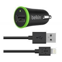 Автозарядка Belkin Car Charger With Charge/Sync Cable Black 10 Watt/ 2.1 Amp