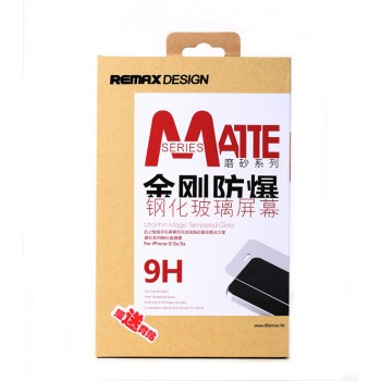 Стекло защитное REMAX 2.5D Ultra thin Magic Tempered Glass MATTE 0.2 mm прозрачное для iPhone 5/5S/5C
