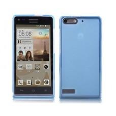 Чехол силиконовый полупрозрачный Silicone TPU Matte Gloss Blue для Huawei G6