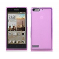 Чехол силиконовый полупрозрачный Silicone TPU Matte Gloss Pink для Huawei G6