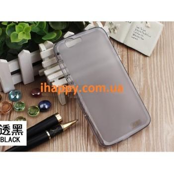 Чехол силиконовый полупрозрачный Silicone TPU Matte Gloss Black для Huawei G7