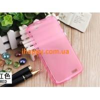 Чехол силиконовый полупрозрачный Silicone TPU Matte Gloss Pink для Huawei G7