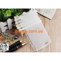 Чехол силиконовый полупрозрачный Silicone TPU Matte Gloss White для Huawei G7
