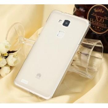 Чехол силиконовый полупрозрачный Silicone TPU Matte Gloss White для Huawei P7