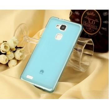 Чехол силиконовый полупрозрачный Silicone TPU Matte Gloss Blue для Huawei P7