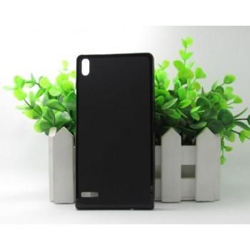 Чехол силиконовый Silicone TPU Matte Black для Huawei P6