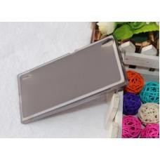 Чехол силиконовый полупрозрачный Silicone TPU Matte Gloss Black для Huawei P7