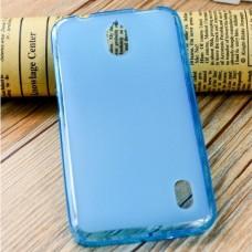 Чехол силиконовый полупрозрачный Silicone TPU Matte Gloss Blue для Huawei Y625