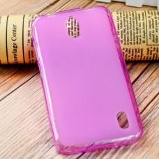 Чехол силиконовый полупрозрачный Silicone TPU Matte Gloss Pink для Huawei Y625