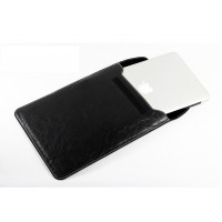 Чехол-карман кожаный DiscoveryBuy Ultra Thin Sleeve Holster BLACK для Macbook Air 11