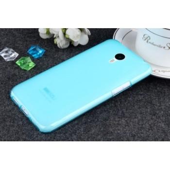Чехол силиконовый Silicone TPU Matte Gloss Blue для Meizu M2 Note