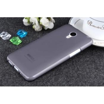 Чехол силиконовый полупрозрачный Silicone TPU Matte Gloss Black для Meizu M2 Note