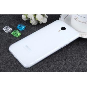 Чехол силиконовый полупрозрачный Silicone TPU Matte Gloss White для Meizu M2 Note