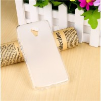 Чехол силиконовый полупрозрачный Silicone TPU Matte Gloss White для Meizu M2/M2 Mini