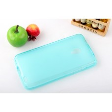 Чехол силиконовый прозрачный Silicone TPU Matte Gloss Blue для Meizu MX2