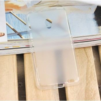 Чехол силиконовый прозрачный Silicone TPU Matte Gloss White для Meizu MX2