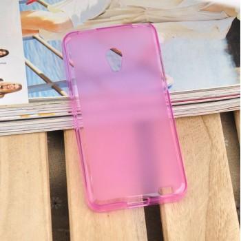 Чехол силиконовый прозрачный Silicone TPU Matte Gloss Pink для Meizu MX2