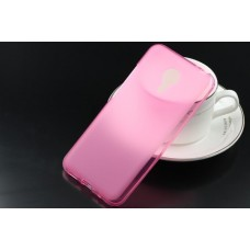 Чехол силиконовый полупрозрачный Silicone TPU Matte Gloss Pink для Meizu MX5