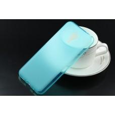 Чехол силиконовый полупрозрачный Silicone TPU Matte Gloss Blue для Meizu MX5